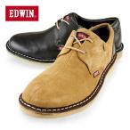 EDWIN エドウィン メンズレザースニーカー デニムと好相性な本革カジュアル EW-701センター