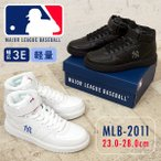 ニューヨーク ヤンキース  メジャーリーグ ベースボール  ダンス シューズ スニーカー3E 軽量 MLB2011 メンズ レディース ハイカット  コート 白 黒 ホワイト