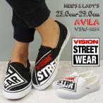 スリッポン VISION AVILA  ヴィジョン ビジョン アヴィラ メンズ レディース ヴィジョン ストリー トウエアー キャンバス 白 黒 AVILA VSW-6154