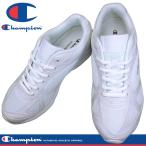 Champion チャンピオン M156 ホワイト/ホワイト 通学靴 白スニーカー 3E 合成皮革+メッシュ KF79303