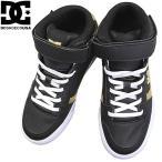 ショッピングDC DC SHOES ディーシーシューズ ブラック/ゴールド キッズ ジュニア スニーカー ミッドカットスニーカー シューズ マジックテープ ベルクロ