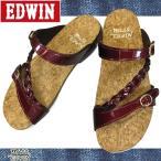 Miss EDWIN エドウィン 9456 ワイン フットベットサンダル レディース コルクサンダル EW9456