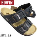 Sandals - EDWIN エドウィン 9128 ブラック メンズサンダル