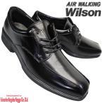 Wilson AIR WALKING 71 黒 ウィルソン エアー ウォーキング メンズ ビジネスシューズ レースタイプ ビジネス ヒモ靴 流れモカ 3E 幅広モデル