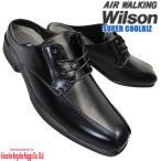 Yahoo!靴ショップやまうWilson AIR WALKING 710 黒 ウィルソン エアー ウォーキング メンズ サボ ビジネスシューズ レース スリッポン ビジネス クールビズ サンダル かかとがない