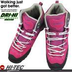 ショッピングトレッキングシューズ ハイテック HI-TEC HKU06 ピンク アオラギMID WP レディース トレッキングシューズ アウトドアシューズ ユニセックス ミッドカット 透湿 防水靴 HKU 06