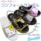 ハローキティ Hello Kitty サンダル SA-04781 ピンク・シルバー・ブラック・ホワイト レディース スリッパ 室内履き サンリオ SANRIO