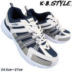 Yahoo!靴ショップやまうメンズ スニーカー KB.STYLE 1401 白/ネイビー メンズ ヒモ ジョギング ランニング シューズ 幅広 軽量 お買い得 作業靴