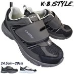 Yahoo!靴ショップやまうメンズ スポーツシューズ KB.STYLE 1954 ブラック 3E ジョギング ランニング シューズ 幅広 軽量 お買い得 作業靴