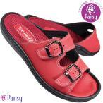 ショッピングサボ PANSY パンジー 9196 レッド レディース サンダル シューズ 婦人靴 軽量 ツッカケ