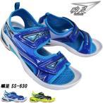 瞬足 シュンソク(男の子)SS-630 キッズ ジュニア サンダル スポーツサンダル サマーシューズ 子供靴 SSS6300 マジックテープ