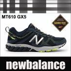 ニューバランス ゴアテックス メンズトレールランニングスニーカー MT610 D GX5 ネイビー/イエロー newbalancemt610 goretex