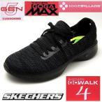 スケッチャーズ レディーススリッポンスニーカー GO WALK4 GIFTED 14919 BKGY ブラック/グレー黒 SKECHERS ゴーウォーク GOGA MAX PILLARS 5-GEN TECHNOLOGY