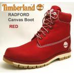ショッピングTimberland ティンバーランド メンズキャンバスブーツ ラドフォード レッドテキスタイル赤 A1M8B Timberland RADFORD CANVAS boot