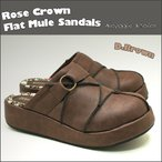 ショッピングサボ 厚底 フラットサンダル  前かぶり サボ サンダル 厚底サンダル 秋冬ミュール サンダル Rose Crown No,5884