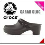ショッピングサボ クロックス レディース サンダル 太ヒール サラ クロッグ SARAH CLOG crocs 203631 ブラック/B/B