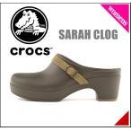 ショッピングサボ クロックス レディース サンダル 太ヒール サラ クロッグ SARAH CLOG crocs 203631 エスプレッソ