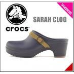 ショッピングサボ クロックス レディース サンダル 太ヒール サラ クロッグ SARAH CLOG crocs 203631 ネイビー