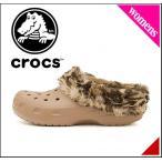 ショッピングサボ クロックス レディース サンダル ぺたんこ クラシック マンモス ラインド グラフィック CLASSIC MAMMOTH LINED GRAPHIC crocs 203781 ゴールド/G