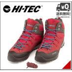 ショッピングトレッキングシューズ ハイテック トレッキングシューズ ブーツ メンズ アオラギ ミッド WP 軽量 防水 EE AORAKI MID WP HI-TEC HKU06 レッド