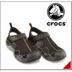 ショッピングスポーツ シューズ クロックス スポーツ サンダル メンズ スウィフトウォーター サンダル SWIFTWATER SANDAL M crocs 15041 ブラック/チャコール