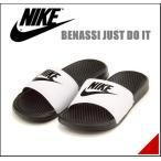 ナイキ ベナッシ ジャストドゥイット メンズ スポーツ スライド サンダル BENASSI JUST DO IT NIKE 343880 ホワイト/ブラック/ブラック