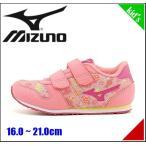 ミズノ スニーカー 女の子 キッズ 子供靴 ランキッズ 4 RUN KIDS 4 mizuno K1GD1633 チェリーいろ