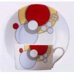 ティー・コーヒー碗皿◆フランク・ロイド・ライト デザイン テーブルウェア(ノリタケT97282/4614)