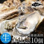 牡蠣 三陸産 生牡蠣 殻付き L 10個 生食用 真牡蠣 陸前高田 気仙沼産生がき 漁師直送