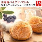 北海道なまらでっかいシュー 【ハスカップ】 16個セット ベイクド・アルル 特大シュークリーム 冷凍便 同梱不可