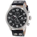 メンズ腕時計・海外ブランド:Akribos XXIV Men's AK664SSB Essential Swiss Quartz Multifunction Stainless Steel Black Leather Strap Watch:紳士腕