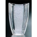花瓶 ガラス・クリスタル花器 蘭模様 楕円ベース 花瓶