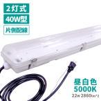 防水 照明器具 フィールドライト 2灯式 LED ライト 22W 昼白色 工事不要 保証付