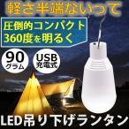 ランタン LED 吊り下げ 充電式 USB 防災 停電 地震 アウトドア キャンプ ライト おしゃれ 明るい 軽い コンパクト モバイル 最強 懐中電灯 フック 2W