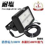 LED 投光器 100W 16000lm 5m ケーブル コード付き 塩害 耐塩 業務用 作業灯 防水 led投光器 水銀灯 400W 相当 工事不要 昼白色 看板 駐車場 グラウンド