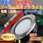 2個セット 埋め込み式 ソーラー LED スポットライト 防水対応 ガーデンライト 玄関先 屋外照明 太陽光充電 遊歩道 ソーラーLED ◇ALW-KSSL600-2