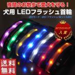 犬用 LED首輪 安全ライト LEDライト 軽量 首に負担が無い 7色 光る首輪 夜のお散歩 電池式 ゆうパケットで送料無料 ◇ALW-AMP-930