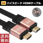 4K対応 HDMI 2.0ケーブル ハイスピードタイプ 金メッキ 純銅 3m テレビ 接続ケーブル 映像出力 ゆうパケットで送料無料 ◇ALW-HDMI-4K-30