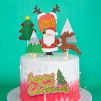Adomi ケーキピック マリクリスマス ケーキ飾り ケーキトッパー サンタクロース 雪だるま ツリー トナカイクリスマスの杖 15點セット DIY