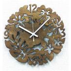 K-Art.Japan壁掛け時計SilhouetteClock2AsianブラウンSK-2005