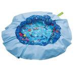ビニールプールEverEarth E Lite Waterproof Beach Blanket & Kiddie Pool, BlueEE33749