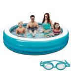 ビニールプールBlue Wave 3D Inflatable Round Family Pool, 7.5'NT5058 7.5'