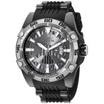 当店1年保証 インヴィクタInvicta Men's Star Wars Stainless Steel Automatic-self-Wind Watch with Silicone Strap, Black,