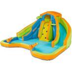 ビニールプールBANZAI 90369 Adventure Club Water Park Inflatable 2 Lane Water Slide Splash Poo