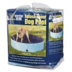 ビニールプールCool Pup Splash About Dog Pool in Blue, PortableZW3188 10 92 Medium