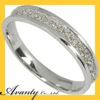 ダイヤ エタニティリング 0.11ct K10WG ダイヤリング 指輪