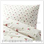 IKEA/イケア EMELINA KNOPP 掛け布団カバー&枕カバー150×200cm ホワイト/ピンク