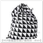 IKEA/イケア SNAJDA ランドリーバッグ60 L ブラック/ホワイト