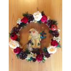 ホワイトサンタのクリスマスリース
