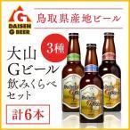大山G ビール 6本 セット ビール   詰め合わせ 地ビール 国産ビール ギフト ギフトセット お歳暮 歳暮 内祝い ピルスナー ペールエール ヴァイツェン 飲み比べ